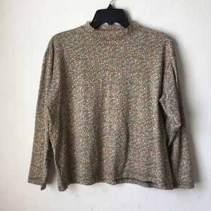 Vintage Mock Turtleneck Top